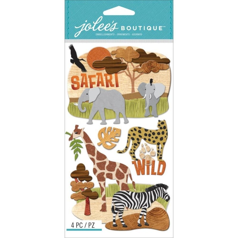 Safari Dimensional Stickers