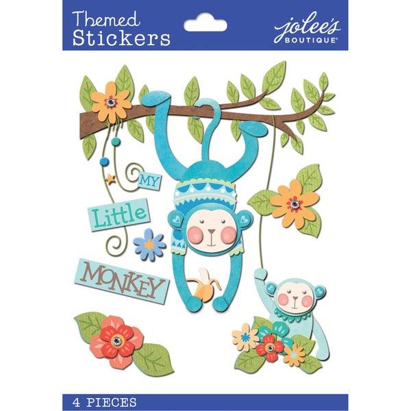 Baby Boy Little Monkey 3D Stickers