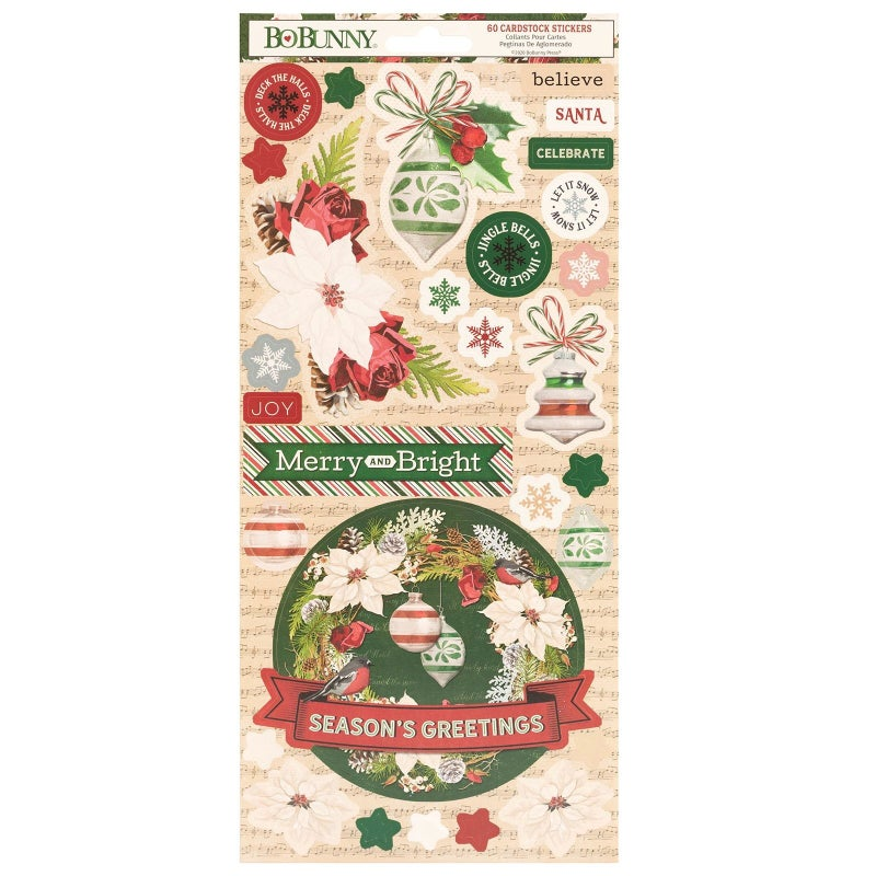 Joyful Christmas Carstock Stickers