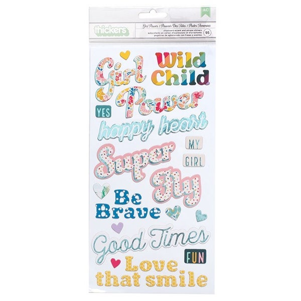 Wild Child Girl Chipboard Thickers