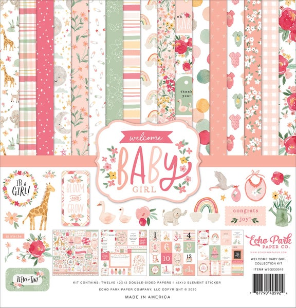 Welcome Baby Girl Paper Pack