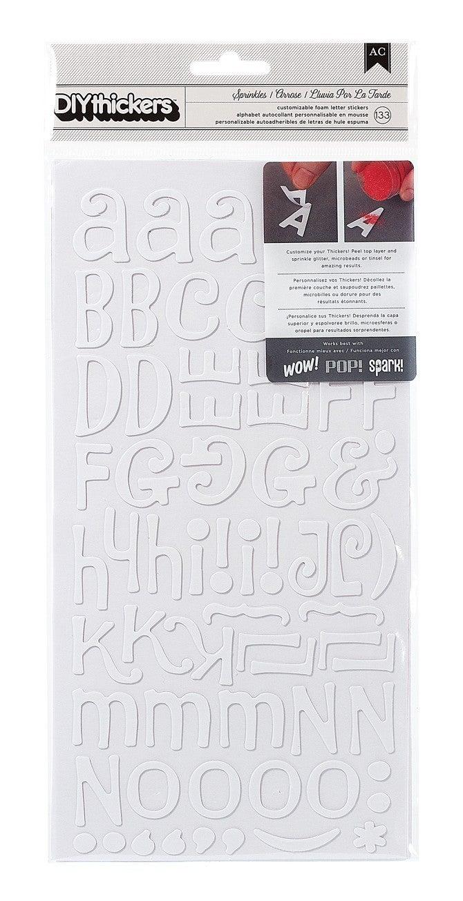 Sprinkles White Alphabet Stickers
