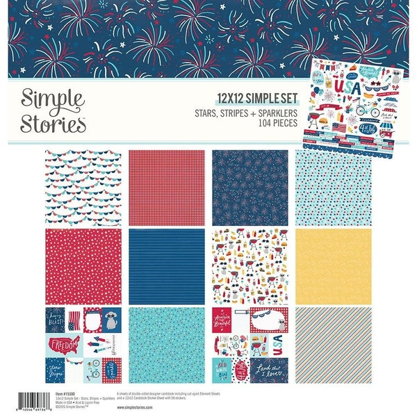 Stars, Stripes, & Sparklers Paper Pack
