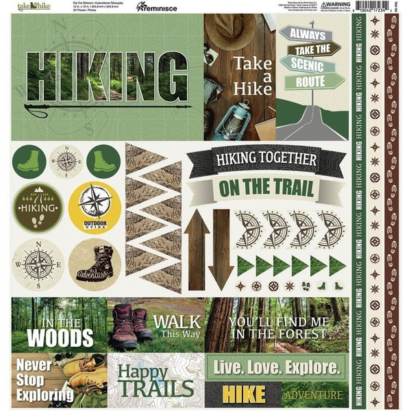 Take a Hike Sticker Sheet