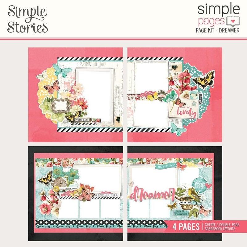 Dreamer - Simple Vintage Cottage Fields - Page Kit Pack
