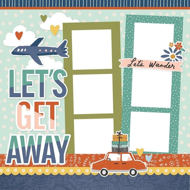 Let's Get Away - Safe Travels Page Kit Pack