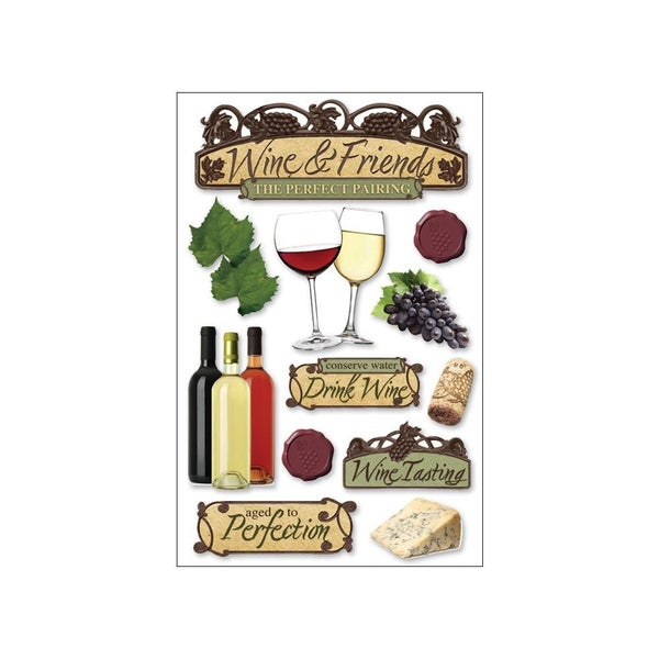Wine 3D Stickers