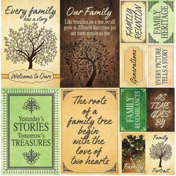 Family Tree 12x12 Sticker Sheet