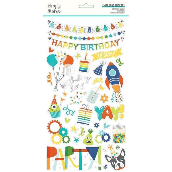 Birthday Blast Chipboard Stickers