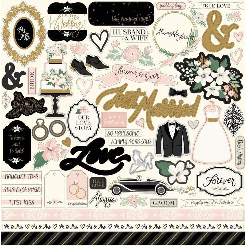 Wedding Day 12x12 Sticker Sheet