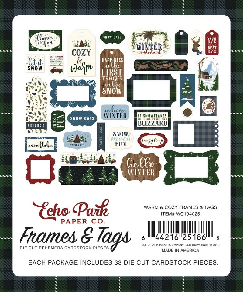 Warm & Cozy Frames & Tags Die Cuts