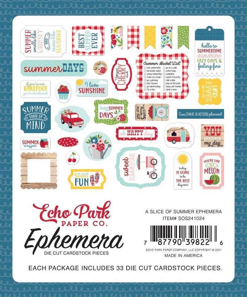 A Slice of Summer Ephemera Pack