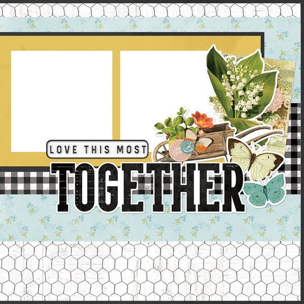 Simple Pages Farmhouse Garden - Homegrown Page Kit