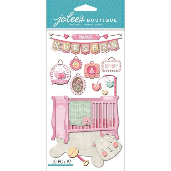 Baby Girl Nursery 3D Stickers