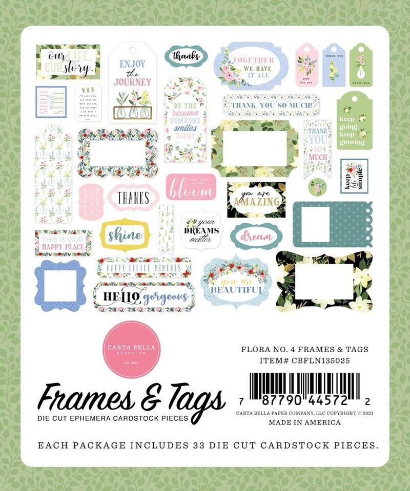 Flora No. 4 Frames & Tags