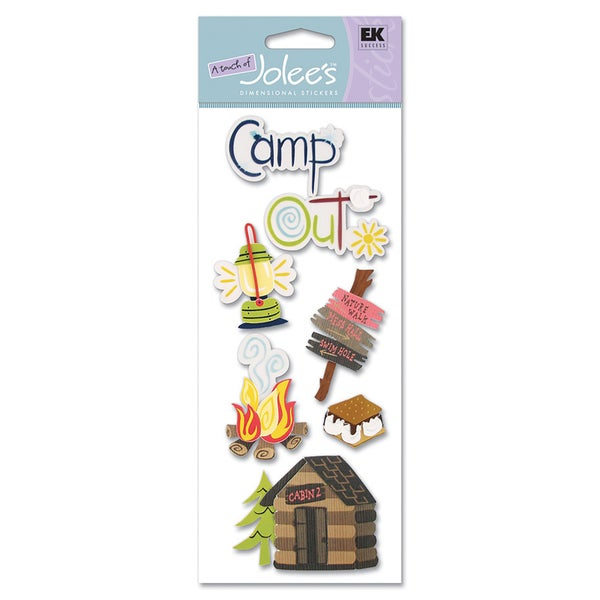 3D Camping Stickers