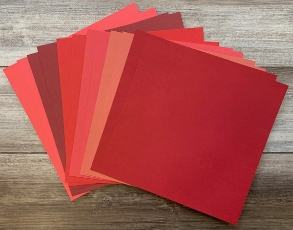 Red Color Pack (12 sheets)