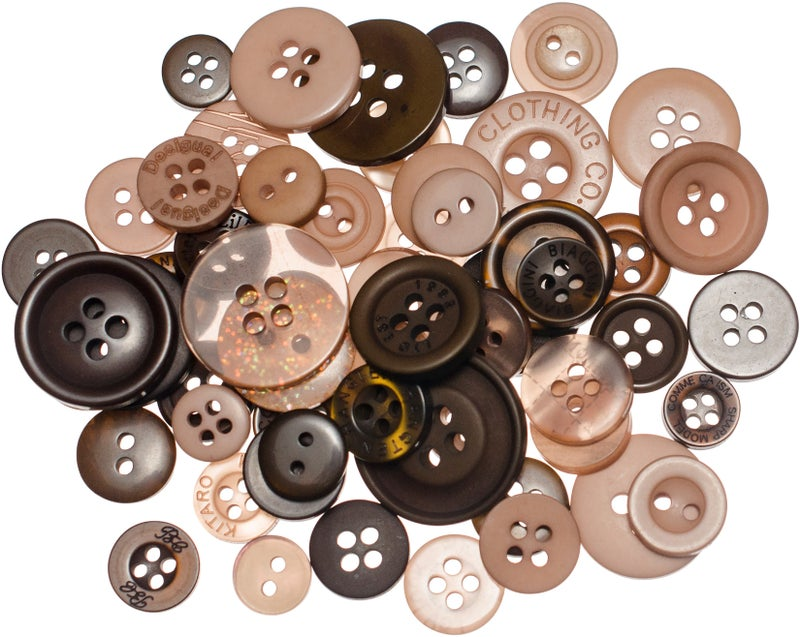 Buttons Mason Jar - Cocoa