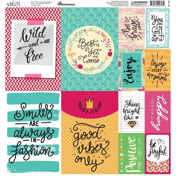 Wild & Free 12x12 Sticker Sheet