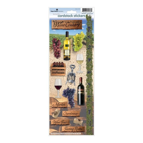 Wine Country Cardstock Stickers