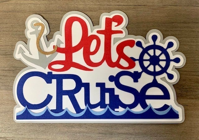 Lets Cruise Die Cut Size 4 3/4 x 3