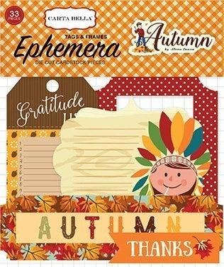 Autumn Tags & Frames Ephemera
