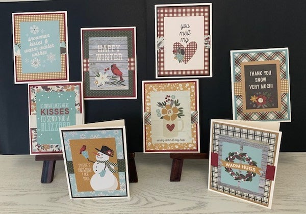 Farmhouse Christmas Card Kit Qty 8