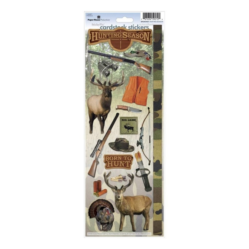 Hunting Season Cardstock Stickers