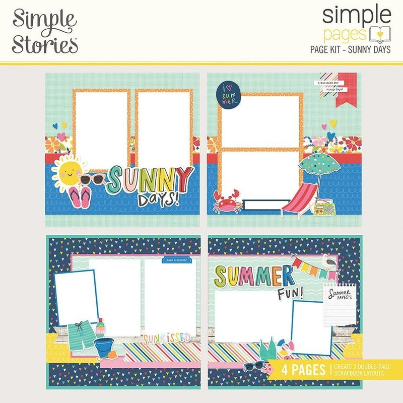 Simple Pages Sunkissed Summer - Sunny Days Page Kit