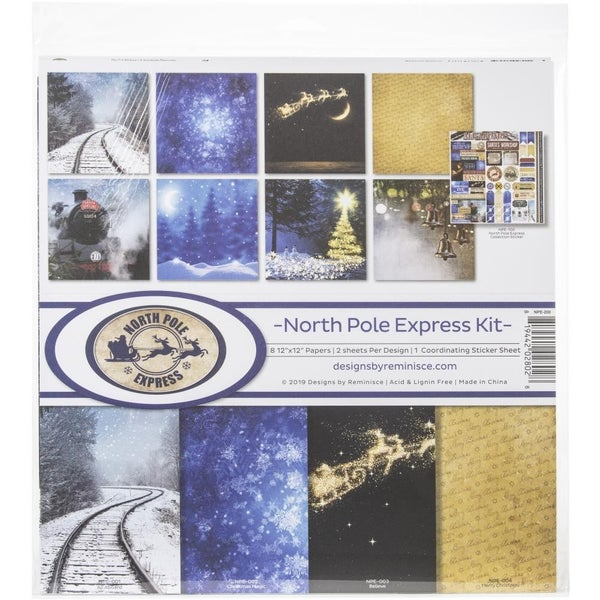 North Pole Express Paper Pack Train