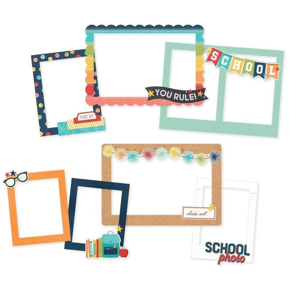 School Life Chipboard Frames