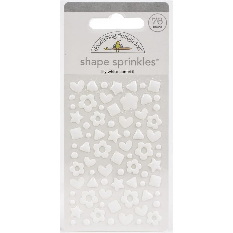 Sprinkles Confetti Shapes - Lily White