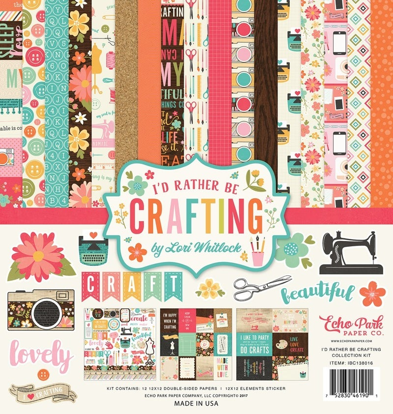 I'd Rather Be Crafting Paper Pack