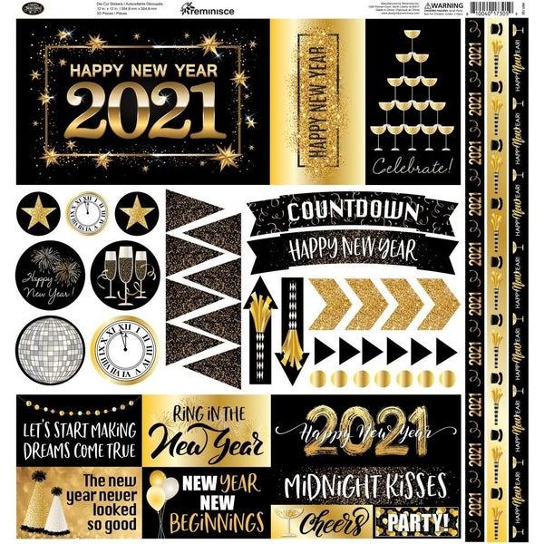 Happy New Year 12x12 Sticker Sheet