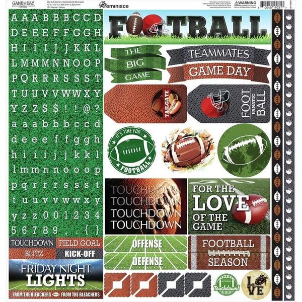 Game Day Football 12x12 Sticker Sheet