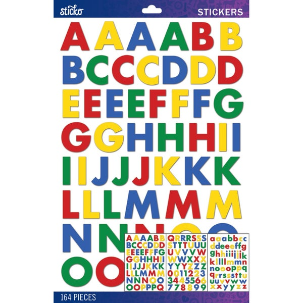 Primary Bold Large Alphabet Stickers