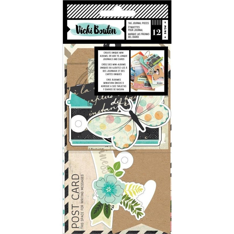 Let's Wander Tag Journal Pieces
