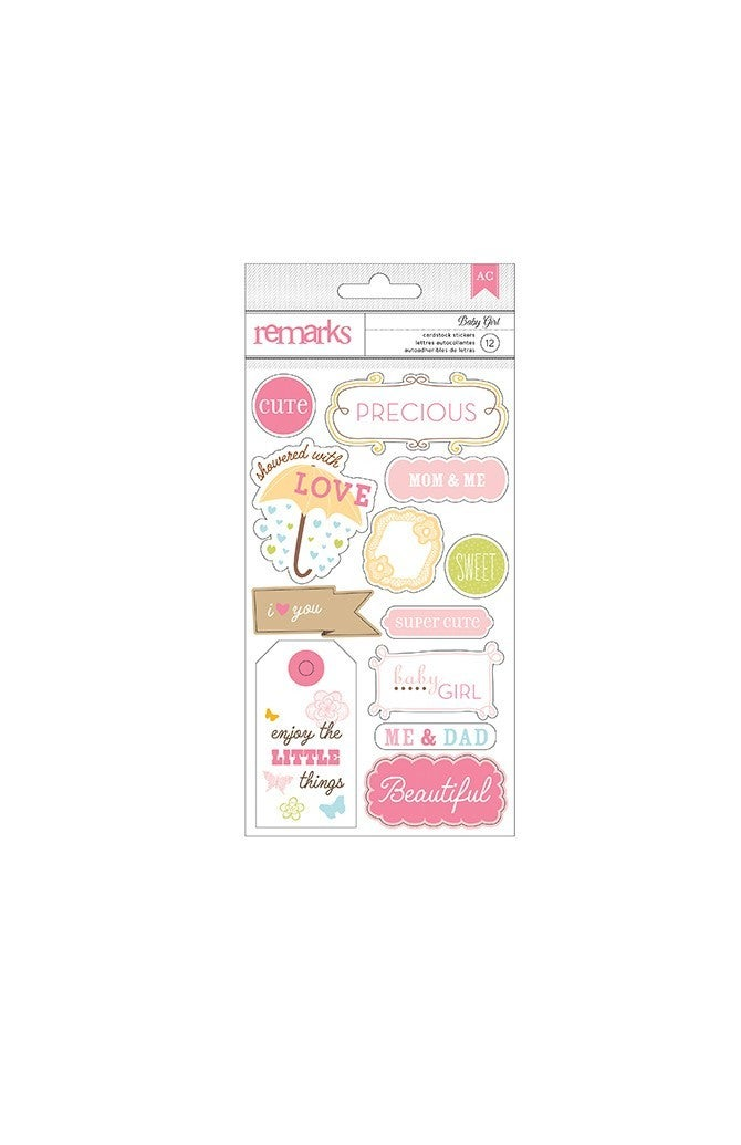 Remarks Baby Girl Stickers