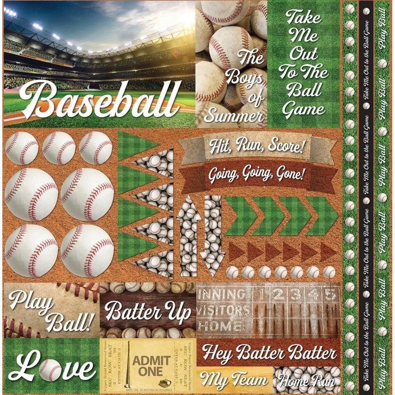 Baseball 12x12 Sticker Sheet