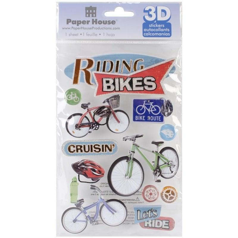 Ride Bikes 3D Stickers