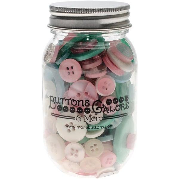 Buttons Mason Jar - Fantasy