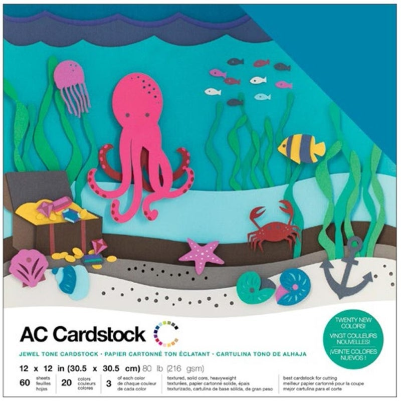 American Crafts Jewel Cardstock Pack Qty 60
