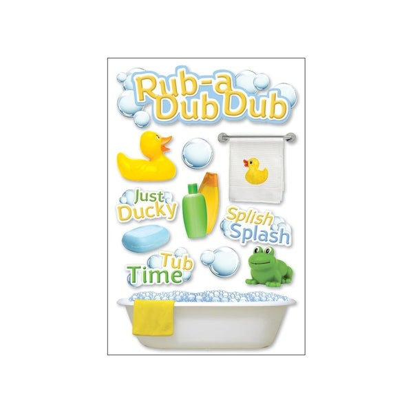 Rub a Dub Baby 3D Stickers