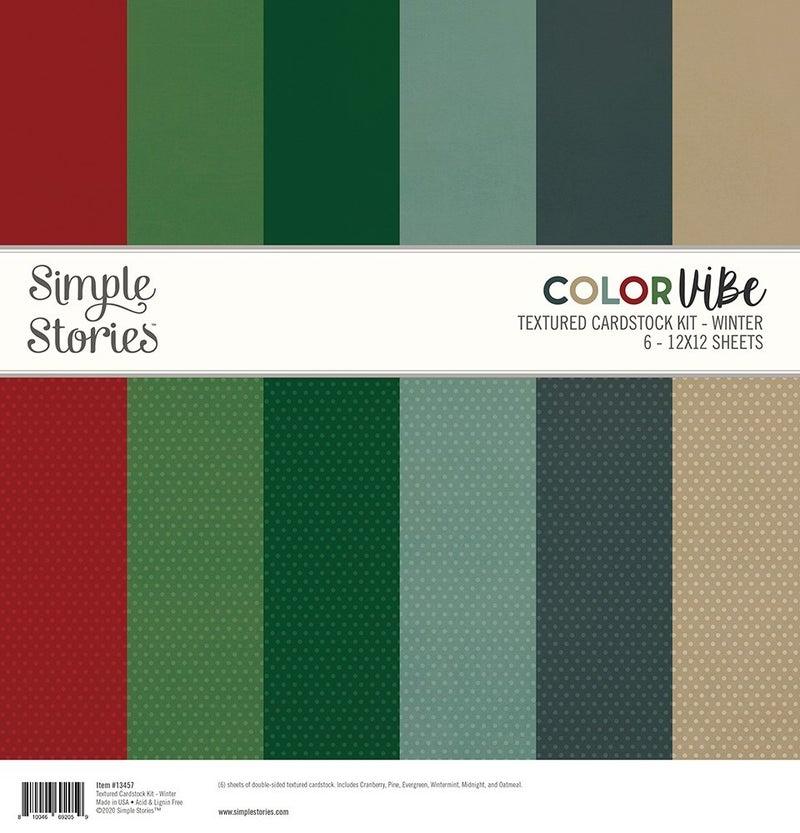 Winter Textured Cardstock Paper Pack