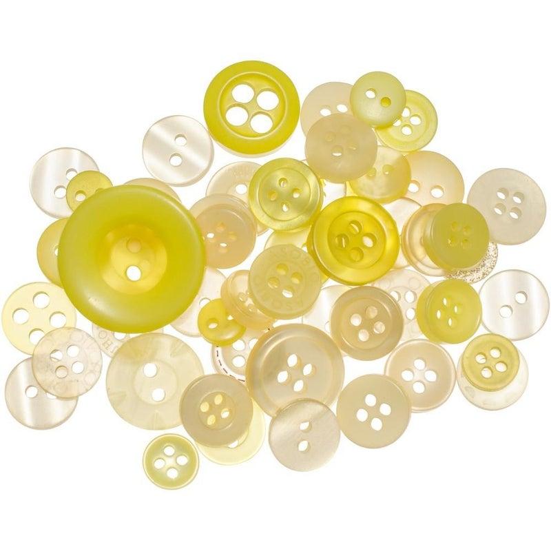 Buttons Mason Jar - Lemon Twist