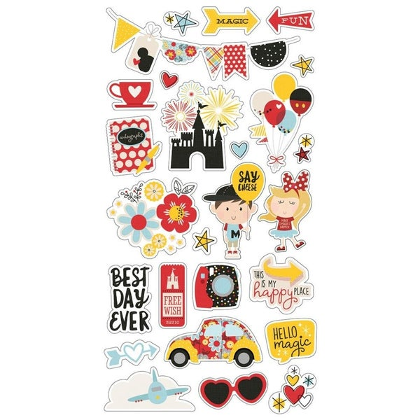 Say Cheese Disney Chipboard Stickers