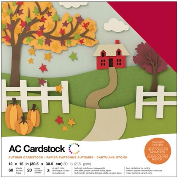 American Crafts Autumn Cardstock Pack Qty 60