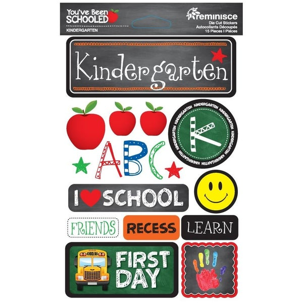 You've Been Schooled Kindergarten Stickers
