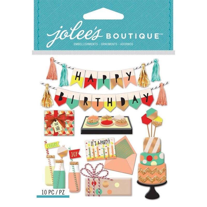 Jolee's Happy Birthday 3D Stickers
