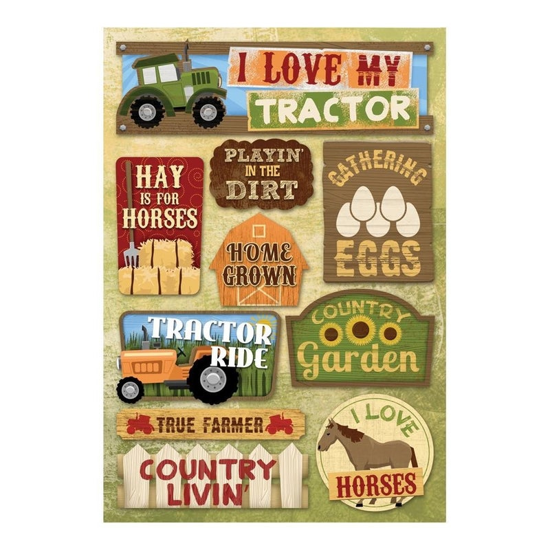 Love My Tractor Stickers